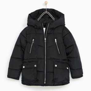 sewa-Perlengkapan Musim Dingin-Zara Fleece Lined Puffer Jacket (6-7 years)