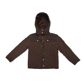 sewa-Perlengkapan Musim Dingin-Zara Girls Brown Quilted Jacket