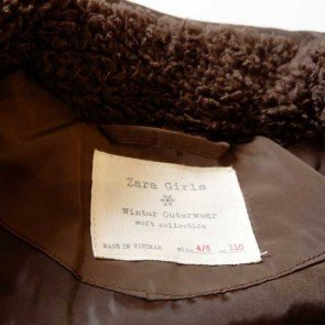 sewa-Perlengkapan Musim Dingin-Zara Girls Brown Quilted Jacket