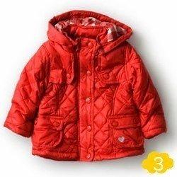 sewa-Perlengkapan Musim Dingin-Zara Red Quilted Jacket (12-18 month)