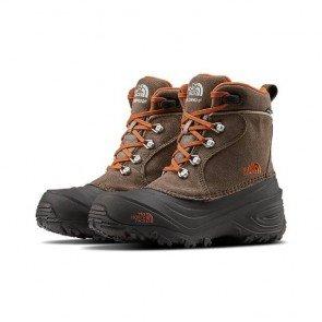 sewa-Sepatu-The North Face Boys' Chilkat Lace II Waterproof Winter Boots Mud Pack Brown