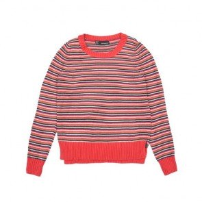sewa-Perlengkapan Musim Dingin-Coldwear Ladies Oversize Cotton Pullover In Stripes M Dewasa