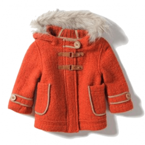 sewa-Perlengkapan Musim Dingin-Zara Orange Coat (24-36 month)