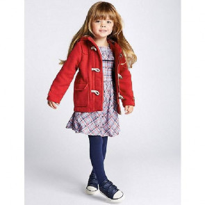 sewa-Perlengkapan Musim Dingin-Mark & Spencer Red Duffle Coat