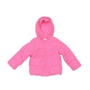 sewa-Perlengkapan Musim Dingin-Mothercare Pink Love Jacket 12-18 Months