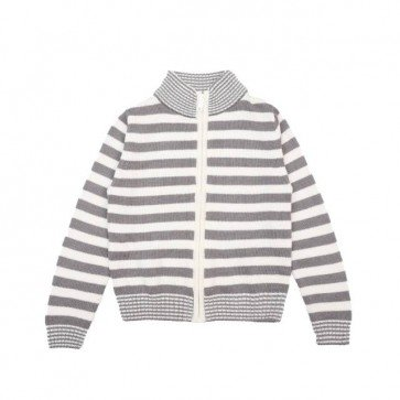 sewa-Baju Musim Dingin Anak-Coldwear Round Neck Stripes Cardigan 7-8 Tahun