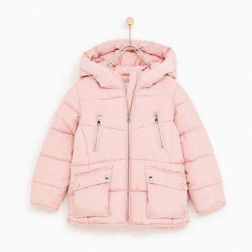 sewa-Perlengkapan Musim Dingin-Zara Fleece Lined Puffer Jacket (10-11 years)