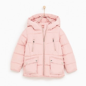 sewa-Perlengkapan Musim Dingin-Zara Fleece Lined Puffer Jacket (10-11 years)