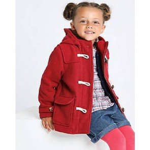 sewa-Perlengkapan Musim Dingin-Mark & Spencer Red Duffle Coat