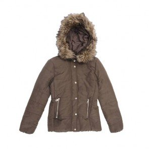 sewa-Baju Musim Dingin Dewasa-H&M Woman Brown Army Winter Jacket Size 32 / XXS