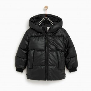 sewa-Perlengkapan Musim Dingin-Zara Faux Leather Puffer Jacket (5 Tahun)