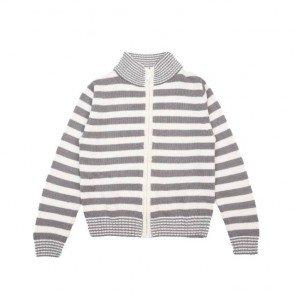 sewa-Perlengkapan Musim Dingin-Coldwear Round Neck Stripes Cardigan 7-8 Tahun