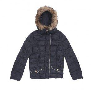 sewa-Perlengkapan Musim Dingin-H&M Woman Navy Winter Jacket Size 34/ XS