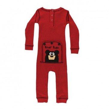 sewa-Pakaian & Kostum-Lazy One Bear Bum Red Infant Flapjacks