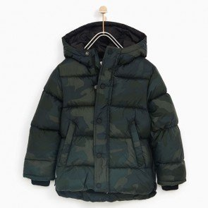 sewa-Perlengkapan Musim Dingin-Zara Basic Quilted Jacket With Hood