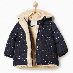 sewa-Perlengkapan Musim Dingin-Zara Baby Dot Puffer Jacket