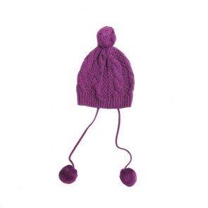 sewa-Baju Musim Dingin Anak-Coldwear Kids Purple Cable Knit Hat