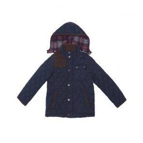 sewa-Baju Musim Dingin Anak-Zara Boys Navy Quilted Jacket Ukuran 7 Tahun