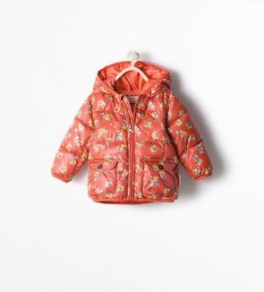 sewa-Perlengkapan Musim Dingin-Zara Girls Floral Padded Jacket