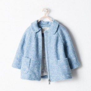 sewa-Perlengkapan Musim Dingin-Zara Baby Girls Blue Coat