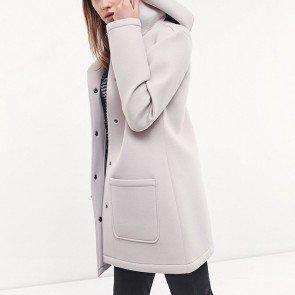 sewa-Baju Musim Dingin Dewasa-Stradivarius Neoprene Jacket White (Dewasa)